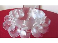 14 piece Punch bowl and glass cup set.