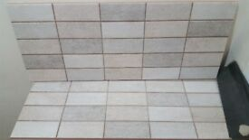 Beige Quality Ceramic Mosaic Effect Gloss Tiles, Bathroom/Kitchen
