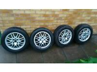 "Ford Focus 15"" alloy wheels and 195x60x15 tyres"
