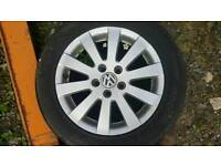 Vw Passat Set of Alloy Wheels & Tyres Good Condition