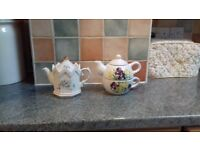 Selection of ornamental teapots.