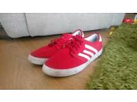 Mens size 12 Red Adidas Trainers