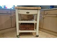 T&G woodware butchers block/kitchen trolley