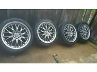 "17"" MERCEDES 5X112 ALLOYS AND TYRES"