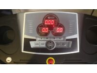 Dynamix Electric Treadmill with Heart Rate Monitor on handrail