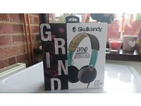 Skullcandy Grind headphones - teal/brown - Brand new