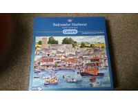 Gibsons 1000 piece Salcombe Harbour Jigsaw Puzzle New and Factory Sealed