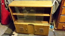Solid real wood Drinks cabinet