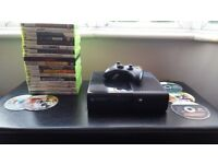 XBOX 360E 250gb and 22 games