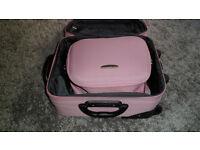 Pink suit case