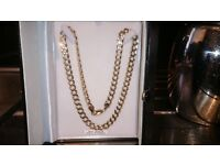 Men's 9ct solid gold curb chain