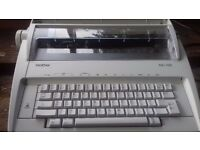 Brother electric typewriter with accessories