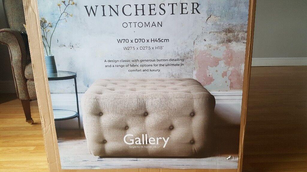 Brand new winchester gallery ottoman
