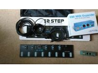 Keith McMillen Instruments 12 Step Midi Foot Controller plus midi expander