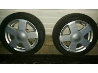 2 × Alloy wheels ford fiesta 2005