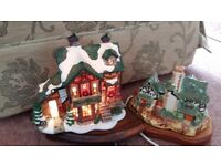 Light up cottage ornaments