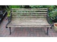 GARDEN BENCH - USED BUT IN GOOD CONDITION