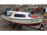 14ft mayland on trailer with tohatsu four stroke 2014 modal ideal first boat
