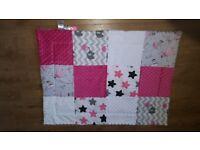baby minky patchwork blanket. 97cmx70cm