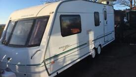 Bessacarr cameo 550gl 3 berth caravan twin axel 2000