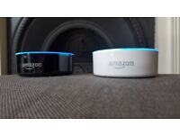 2 x Amazon Echo Dots - (2nd Generation) Black & White - Perfect Condition