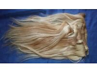 Hair Extensions - Human Hair - Natural Looking Pretty Blonde Mix.