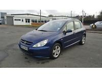 Peugeot 307 HDi Diesel 2.0 5 doors 2003 in good condition 1 year MOT fully serviced