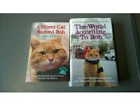A streetcat named Bob, and The world according to Bob by James Bowen Books