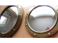 Vintage Convex Porthole Butlers Mirrors