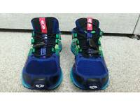Salomon XR MISSION 1 Women's Blue/Green/Pink Running Trainers Size UK 4