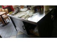 2 door Stainless steel sideboard