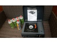 Sun gas portable stove with 5 gas cylinders