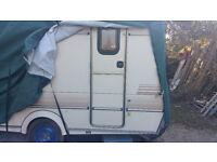 Wonderful 14' Elddis Mistral GTX caravan lovingly refurbished a one off, clean, fresh, dry