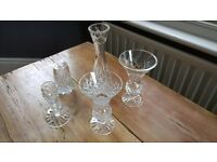 Selection of crystal vases