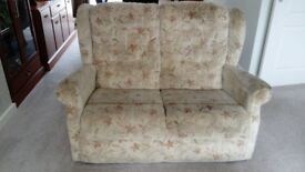 3-seater and 2-seater fabric sofas in good condition