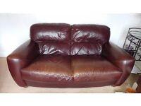 Leather sofa 2 x 2 large seater