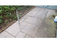 """Dog crate, approx 36"""" X 22"""" X 24"""" high and dog pen."""
