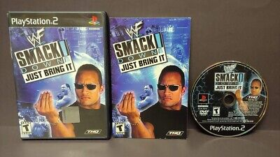 WWE Smackdown Just Bring It! - PS2 Playstation 2 Game 1 Owner Mint Disc COMPLETE for sale  Shipping to India