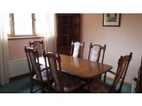 Ercol Dining Room Suite with 2 side units