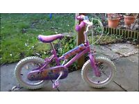 "Girls Pink Disney Princesses bike - 12"" wheel - £10 each"