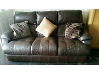 Soft brown leather sofa