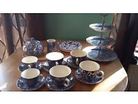 Burleigh blue calico china wear.
