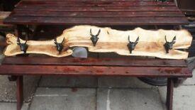 rustic coat racks hand made.