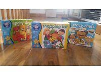 3 Board games Spotty dog/ shopping list/crazy chef
