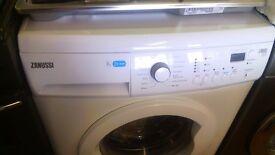 ZANUSSI 8KG white WASHING MACHINE, new ex display