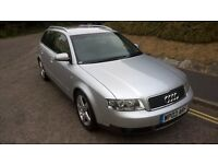 VERY TIDY AUDI A4 2.5 AUTOMATIC, 112K MILES, FULL LEATHER INTERIOR, FSH