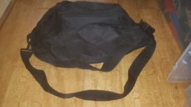 Plain black gym bag