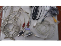 Bundle of cables and connectors (new and in very good condition)