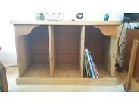 Wooden record storage