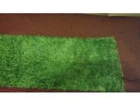 Plain shaggy rug